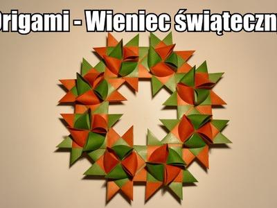 Origami - Wieniec świąteczny