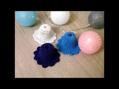 No67# Prosty dzwoneczek, dzwonek na szydełku nr 1 -  bell on crochet nr 1 ornament