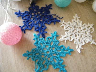 No70# Śnieżynka, śnieżka na szydełku nr 4 - snowflake on crochet nr 4