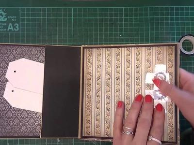 Jak zrobić zamknięcie do minialbumu przy użyciu gumki i guzika, scrapbooking tutorial