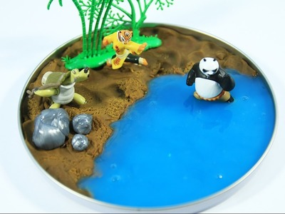 DIY -  Magiczna Wyspa. Magic Kung Fu Panda Slime Kinetic Sand Island