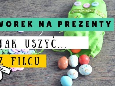DIY Wielkanoc - Worek na czekoladowe jajka