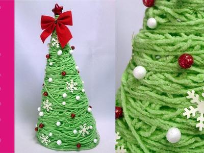 Choinka z włóczki (Christmas tree with yarn)