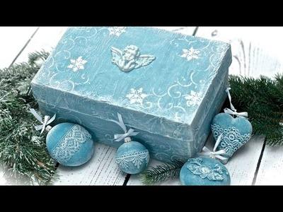 Decoupage prezentowe pudełko TUTUORIAL DIY