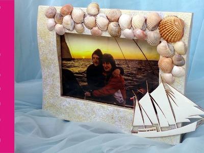 Ramka na zdjęcie z muszelkami (Photo frame with shells, DIY) #1