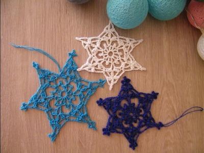 No 76# Śnieżynka, śnieżka na szydełku  nr 6 - snowflake on crochet nr 6