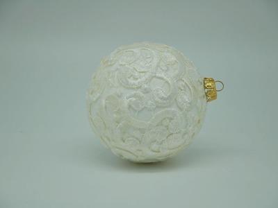 Bombka z koronki DIY # Christmas balls decoration DIY