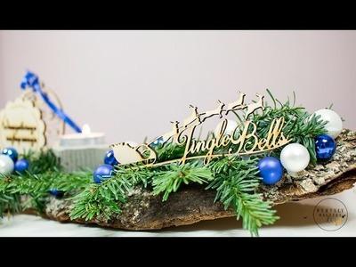 Stroik na świąteczny stół DIY. Dekoracja świąteczna. Jak zrobić świąteczny stroik?
