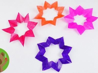 Wycinanie światecznych gwiazd z bibuły | bożonarodzeniowa dekoracja okienna