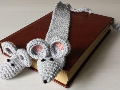 Zakładka do książki na szydełku zakładka myszka 2.2