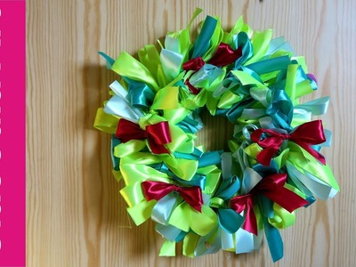 Wianek z kokardek (Wreath with ribbons, DIY)