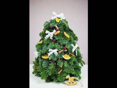 Choinka z gałązek jodły. Jak zrobić choinkę? DIY christmas tree. How to make a Christmas tree