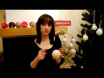 Cotton balls na choinkę :) Jak zrobić kulki bawełniane w formie bombek. ?