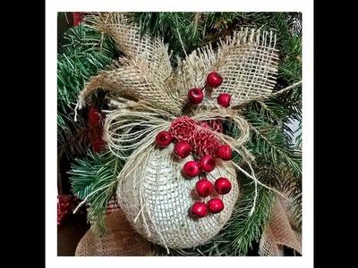 Jak wykonać .  BOMBKA PRZAŚNA na CHOINKĘ  ;) #Christmasdecorations
