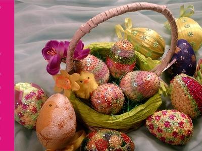 Ozdabianie jajek styropianowych - różne sposoby (eggs, easter decorations)