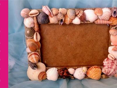 Ramka na zdjęcie z muszelkami (Photo frame with shells, DIY) #2