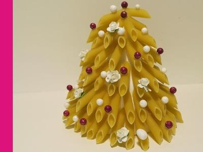 Choinka z makaronu (Christmas tree with noodles, DIY)