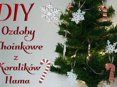 DIY Ozdoby Choinkowe z  Koralików Hama | DIY Christmas decorations with Perler Beads