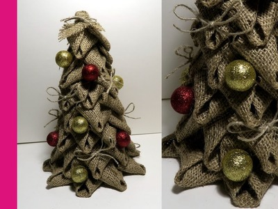 Choinka z juty (Christmas tree made of linen, DIY)