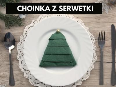 Jak złożyć serwetkę w choinkę? Dekoracje świąteczne zrób to sam #diy #tutorial