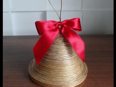 Jak zrobić dzwonek z papierowej wikliny. bell of paper
