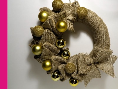 Wianek z juty (Wreath from flax, DIY)