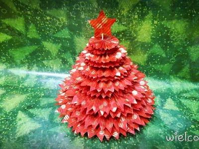 DIY - CHOINKA Z KARBOWANEGO PAPIERU.BIBUŁY. CHRISTMAS TREE FROM PAPER #23