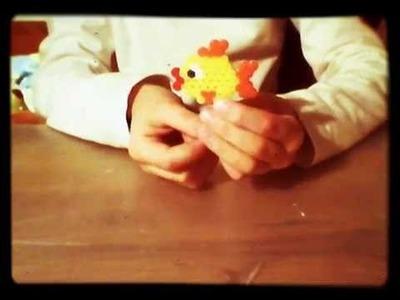 Jak zrobić rybkę z koralików hama.pyssla :-)