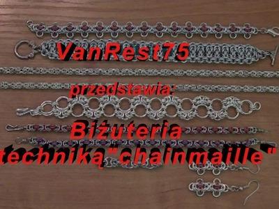 Biżuteria chainmaille cz.10- Wzór Bizantyjski