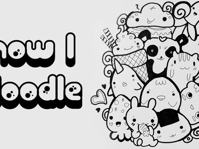 HOW TO DRAW DOODLE Characters Cartoons - Rysunek
