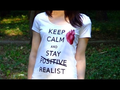 DIY: Keep Calm hand made t-shirt tutorial