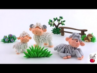 LET'S CLAY! Lamb tutorial - polymer clay