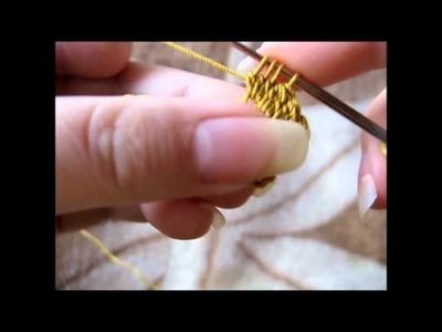 Maranta i szydełko - Pęczek ze słupków niedokończonych