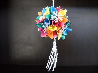 Origami 3d - kusudama z kwiatów - instrukcja jak wykonać