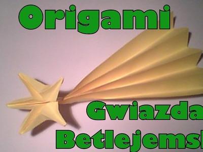 Origami - Gwiazda betlejemska