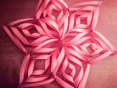 Origami - gwiazda . Jak zrobić gwiazdkę krok po kroku DIY. how to make paper snowflakes tutorial