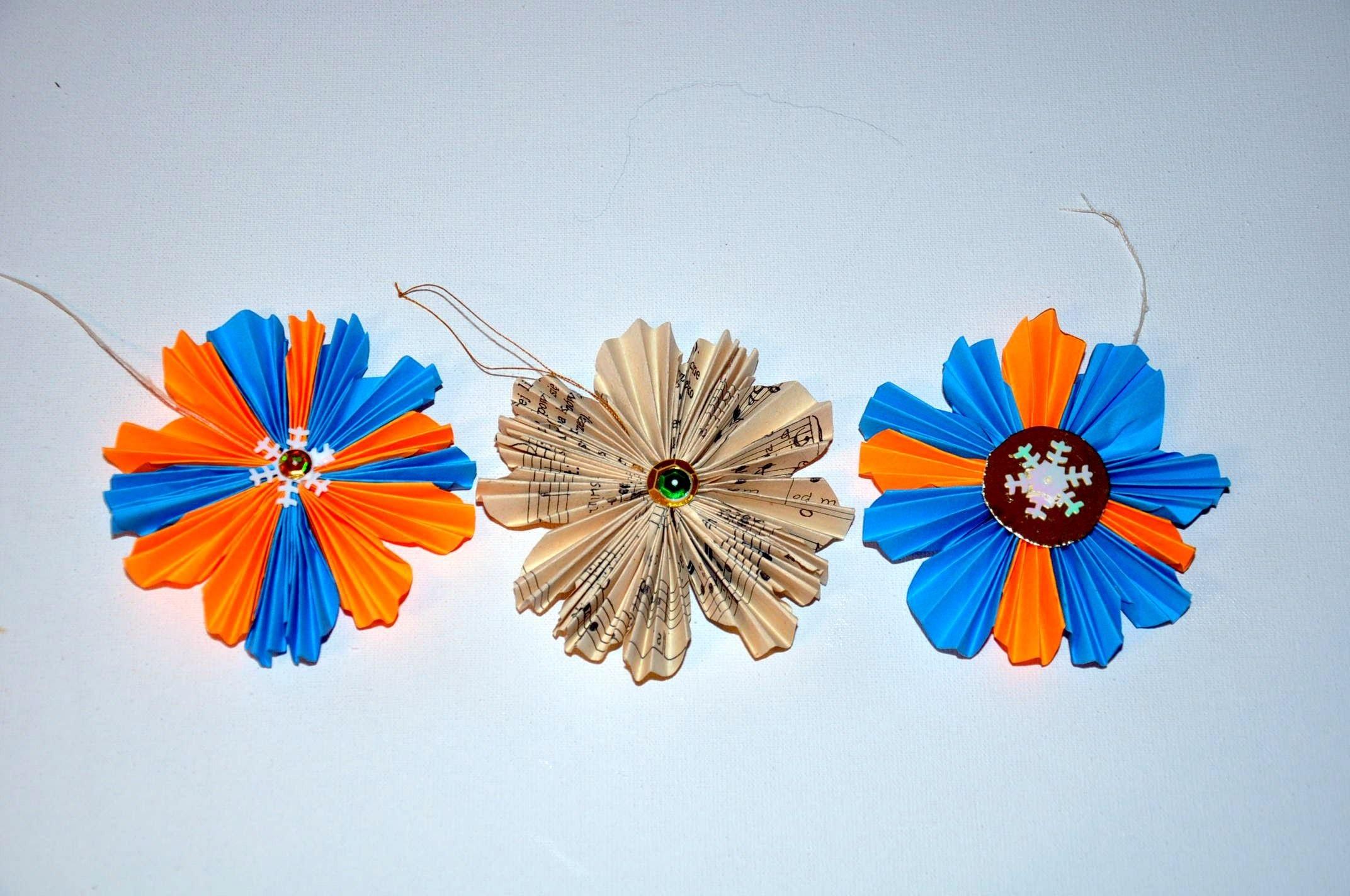 Ozdoby na choinkę z papieru  Paper Christmas ornaments DIY