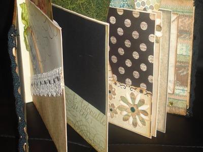 Scrapbooking mini album, ręcznie wykonany 17x20, vintage