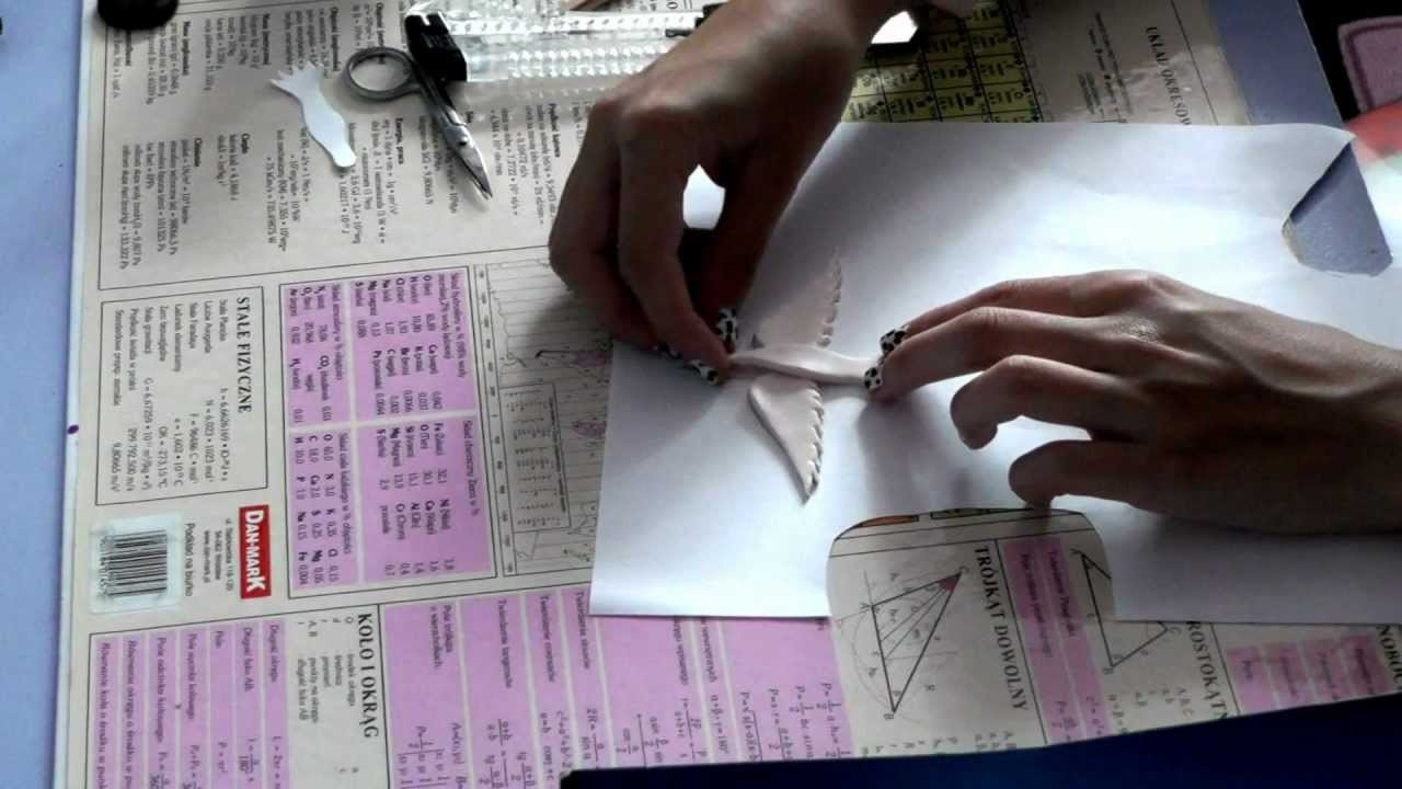 Bird pendant polymer clay tutorial
