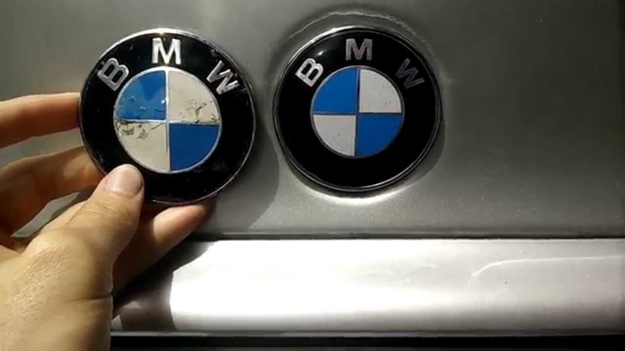 BMW e46 HOOD TRUNK LOGO CHANGE EASY DIY QUICK TUTORIAL