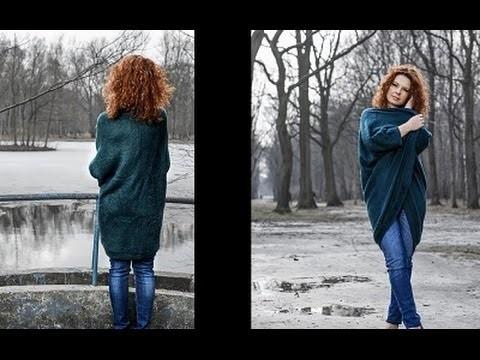 Jak uszyć sweter kardigan w godzinę by Słonecznaradzi.pl. How to make a cardigan sweater in an hour