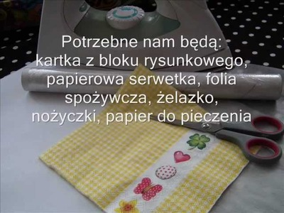 Jak zrobić kartkę do scrapbookingu z papierowej serwetki