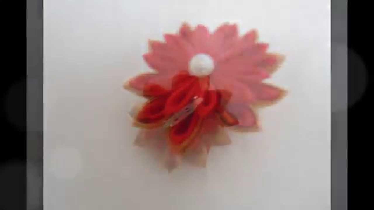 Kanzashi : Przypinka, broszka, spinka do bluzki, kurtki, sukienki. samochodziara.blogspot.com