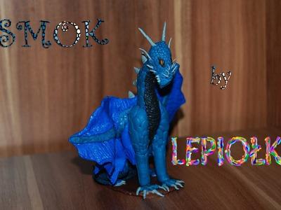 Lepiołki: Realistyczny smok , dragon realistic TUTORIAL, polymer clay, made hand z modeliny