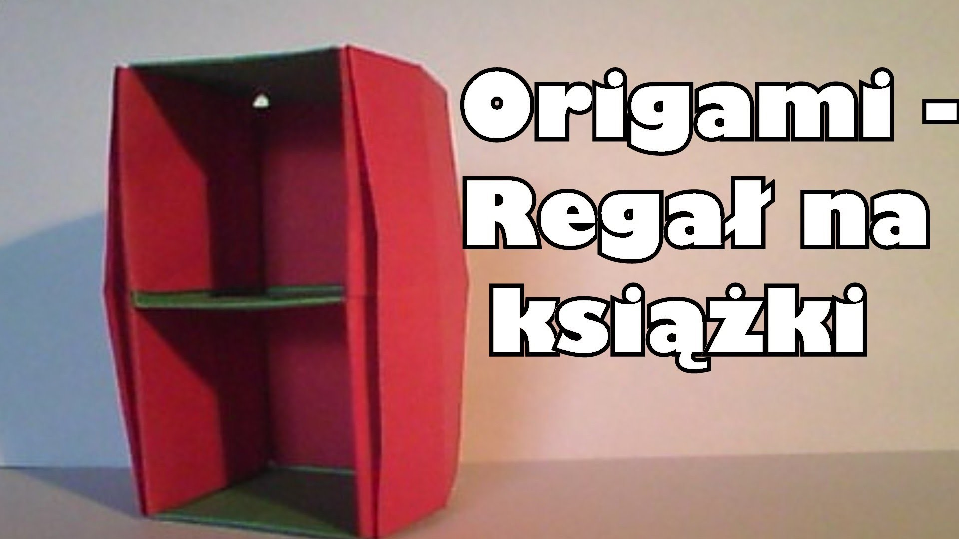 Origami - Regał na książki