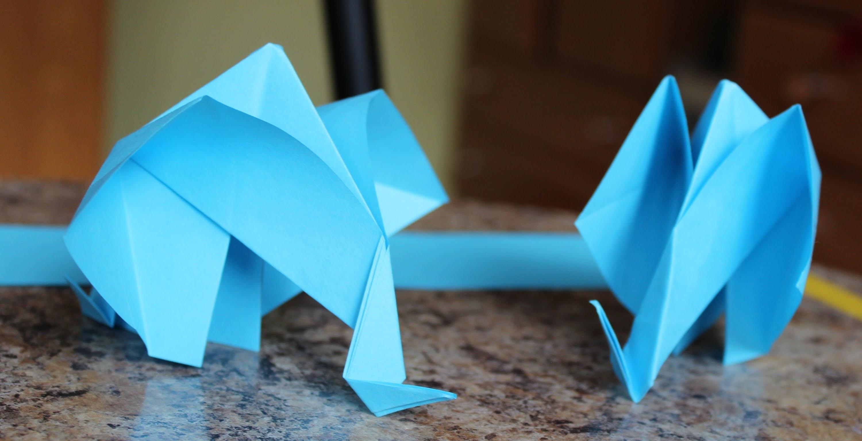 Origami: Słoń #5