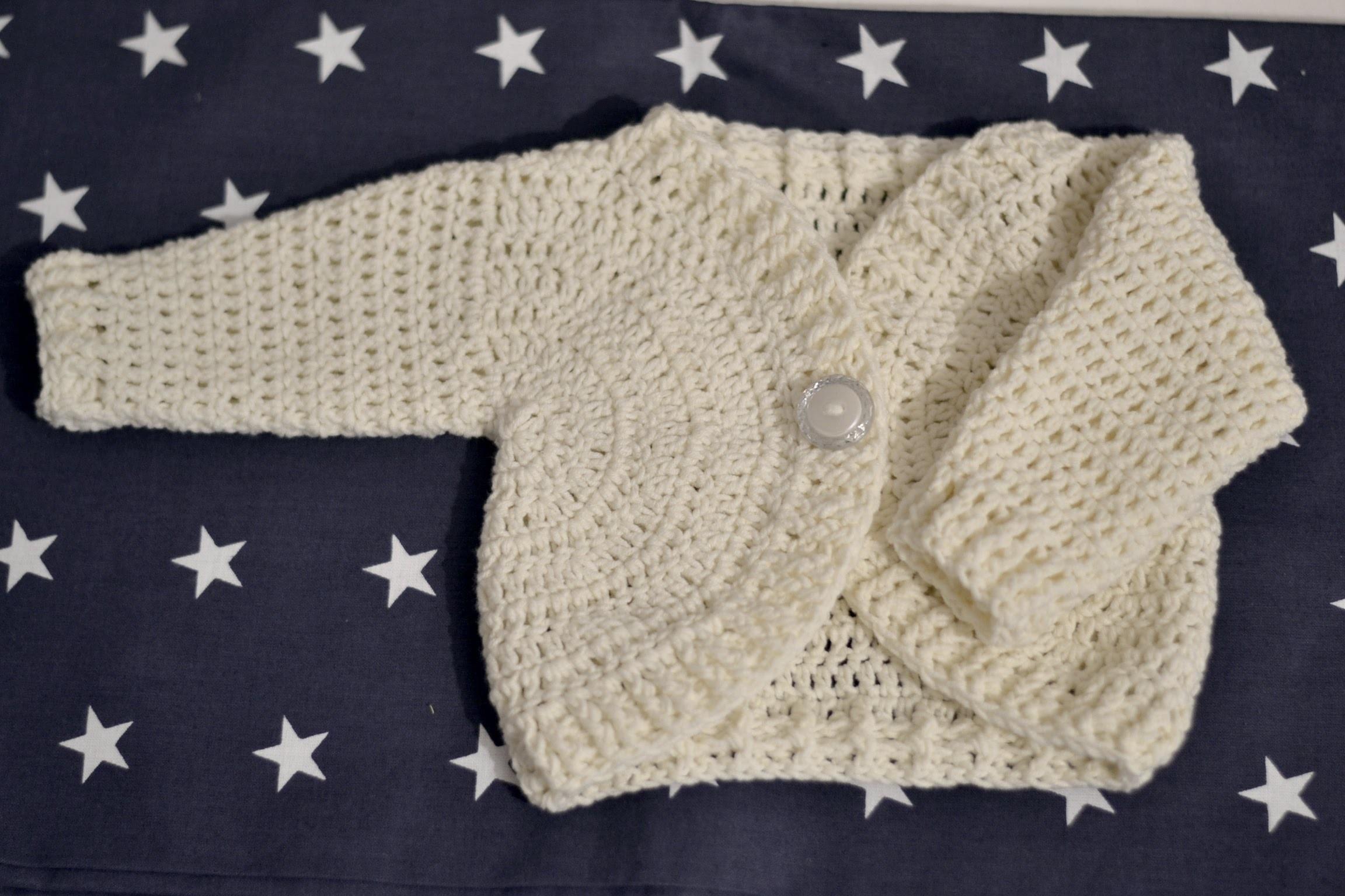 Tutorial wiosenny sweterek na szydełku każdy rozmiar - sweater baby crochet