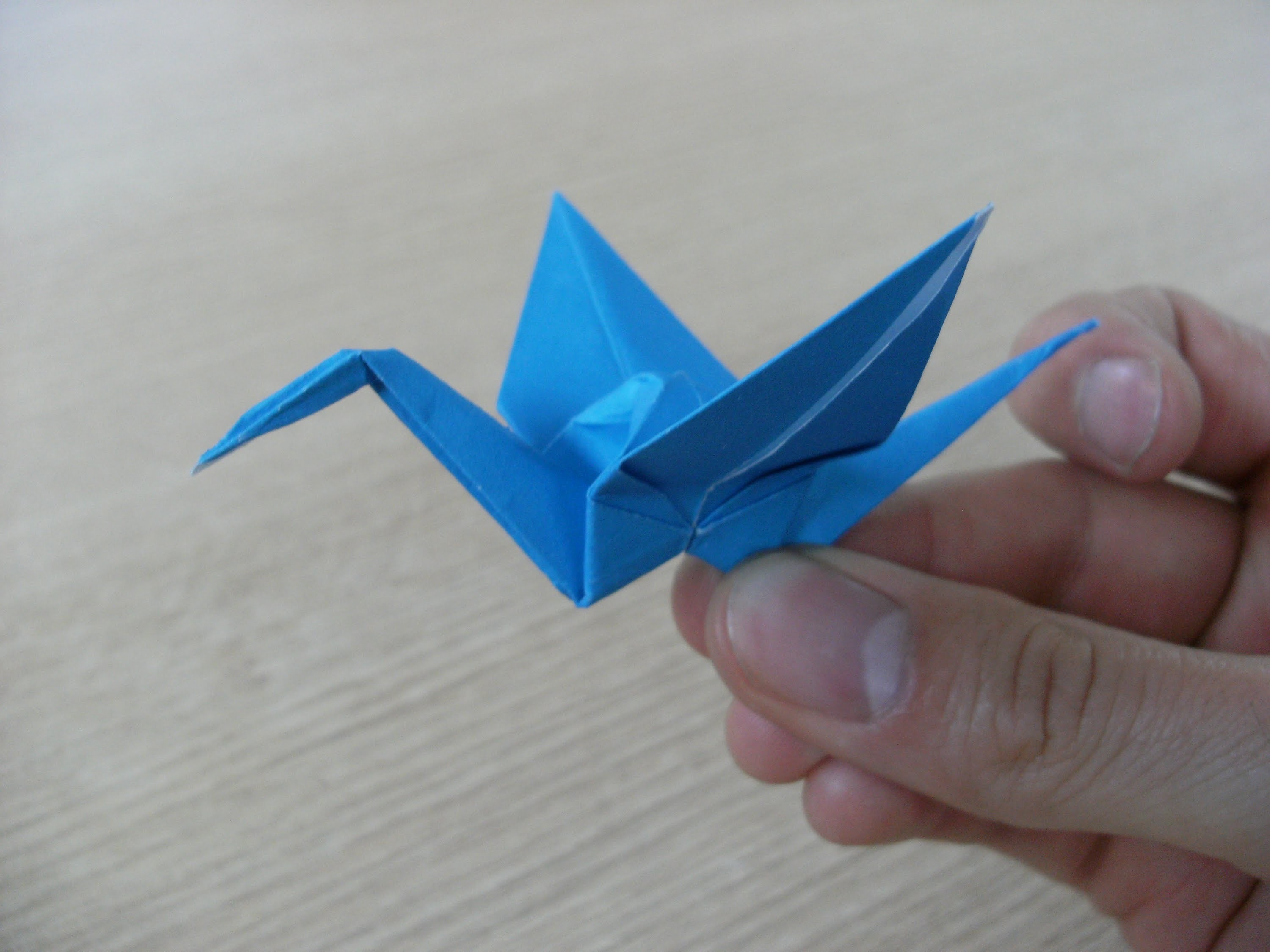 3D origami - paper crane - (how to make)