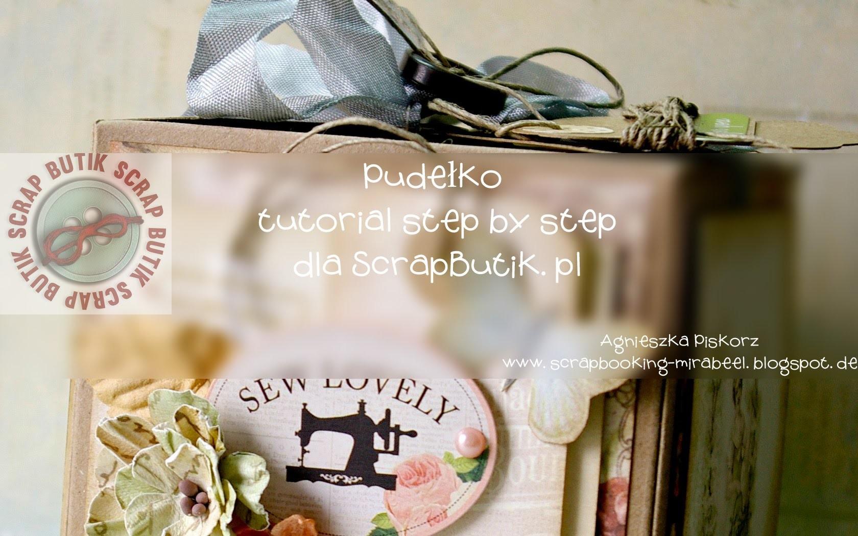 Box step by step Craft Show Kraków 2014 Agnieszka Piskorz dla ScrapButik.pl