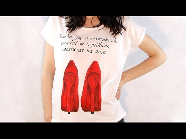 DIY: Czerwone Szpilki hand made t-shirt tutorial